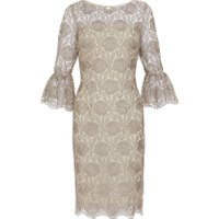 Buttercream embroidered dress ideal for a wedding parent or guest
