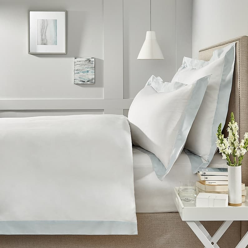 homeware stores near me makehersmile interior designers near me A country-style bedroom with Camborne White Company sheets on the bed -  white with
