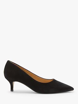 Alessia shoe by John Lewis and Partners, navy court with kitten heel