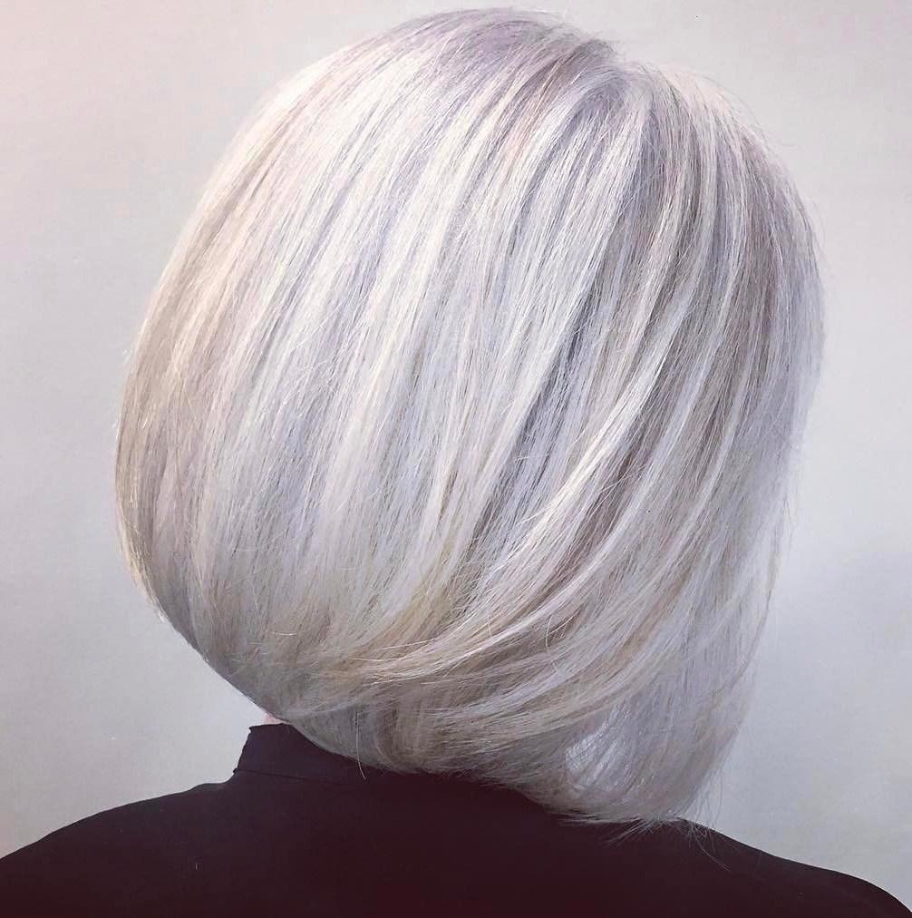 Perfect bob hairstyle silver hair