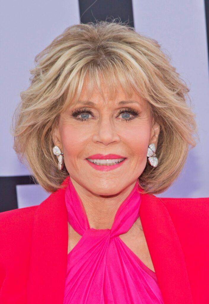 Jane Fonda layered bob