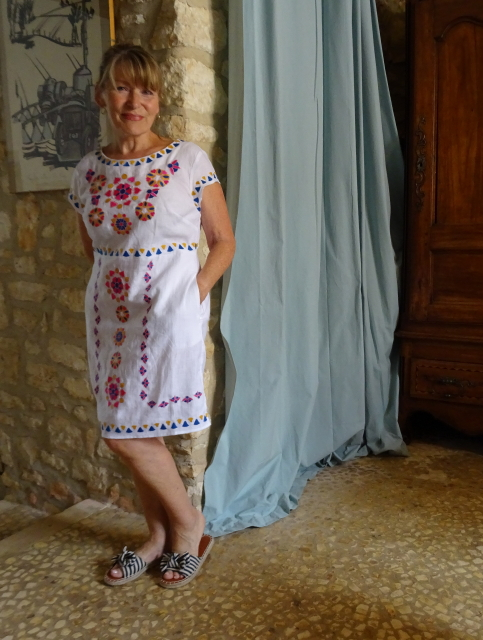 Embroidered white dress from Boden