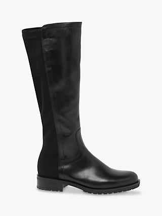 Black Gabor knee-high riding boots