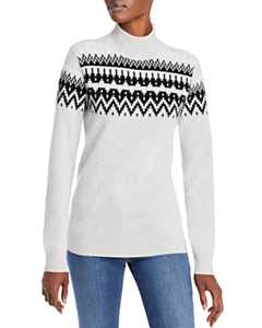 Bloomingdale's pale grey with black cashmere sweater