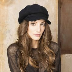 Black newsboy hat on Amazon