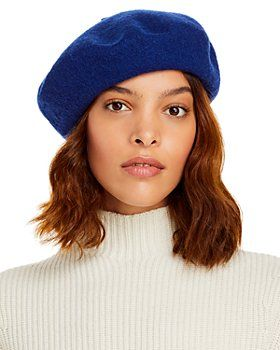 Blue classic beret by Aqua at Bloomingdale's